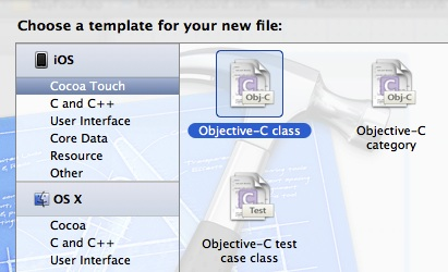 new objective-c class