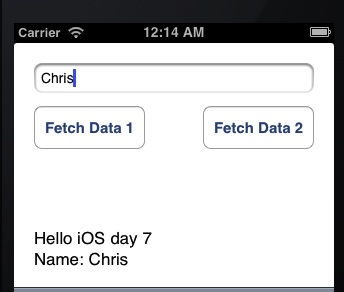 fetching data with query string parameter