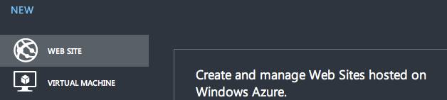 New Windows Azure Website 1