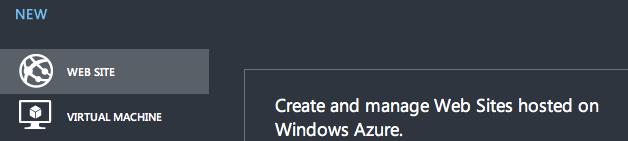 New Windows Azure Website 1