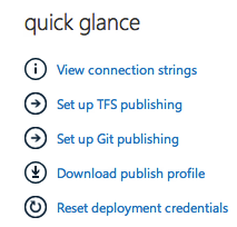 Quick Glance in Windows Azure Portal