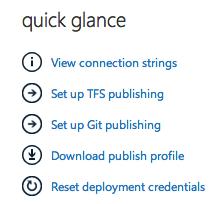 Quick Glance in Windows Azure Portal