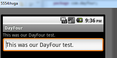 android day four with edittext