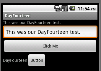 Android Day Fourteen One