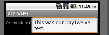Android Day Twelve Fourth layout