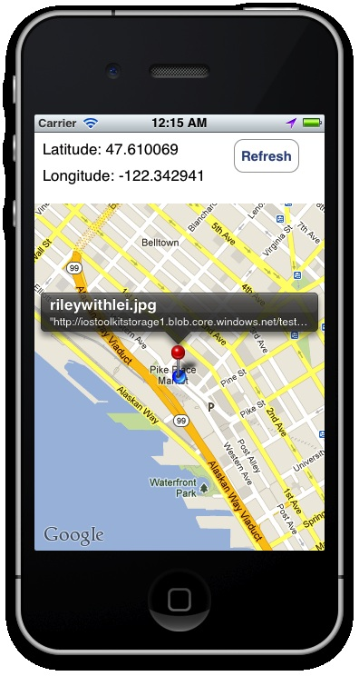 Running the Geolocation iOS App