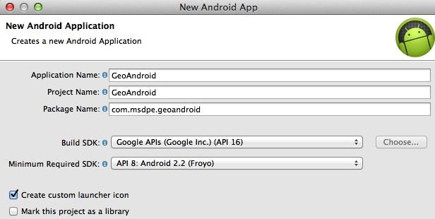 New Android Geo App