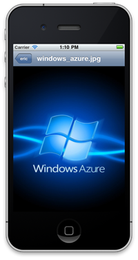Windows Azure on iOS