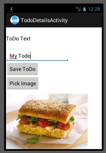 Mobile service android app showing image