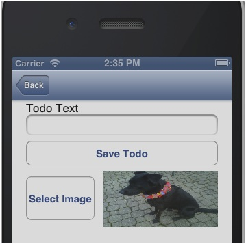 ios image selected