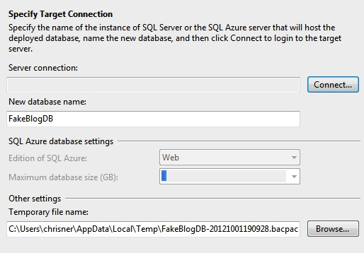 Moving DB to SQL Database