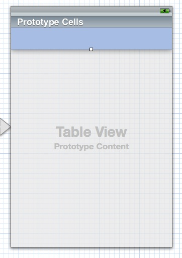 tableview with cell