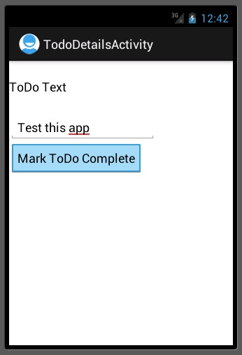 todos - marking items complete