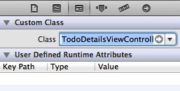 setting view controller class