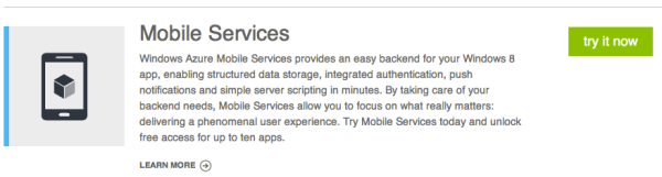 Try Mobile Services Now
