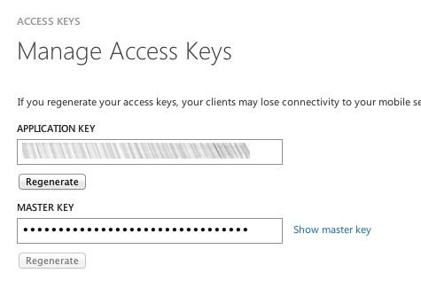 access keys