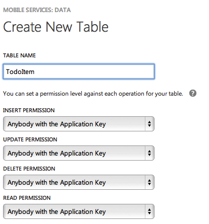 new mobile service table