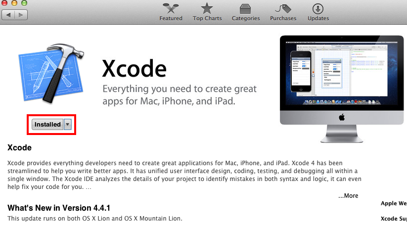 Installing Xcode